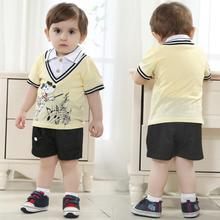 kids clothes free shipping baby summer suits cotton shortsleeve shirt boutique wholesale clothing sport baby suit