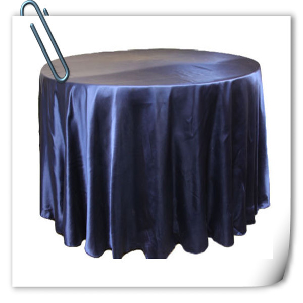 Hot Sale !!! Navy Blue 132inch 10pcs Satin table cloth for weddings parties hotels restaurant Free Shipping