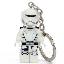 No.145 stormtrooper star wars Minifigure Keys Ring Keychain Handmade Key Chain Building Blocks Toy