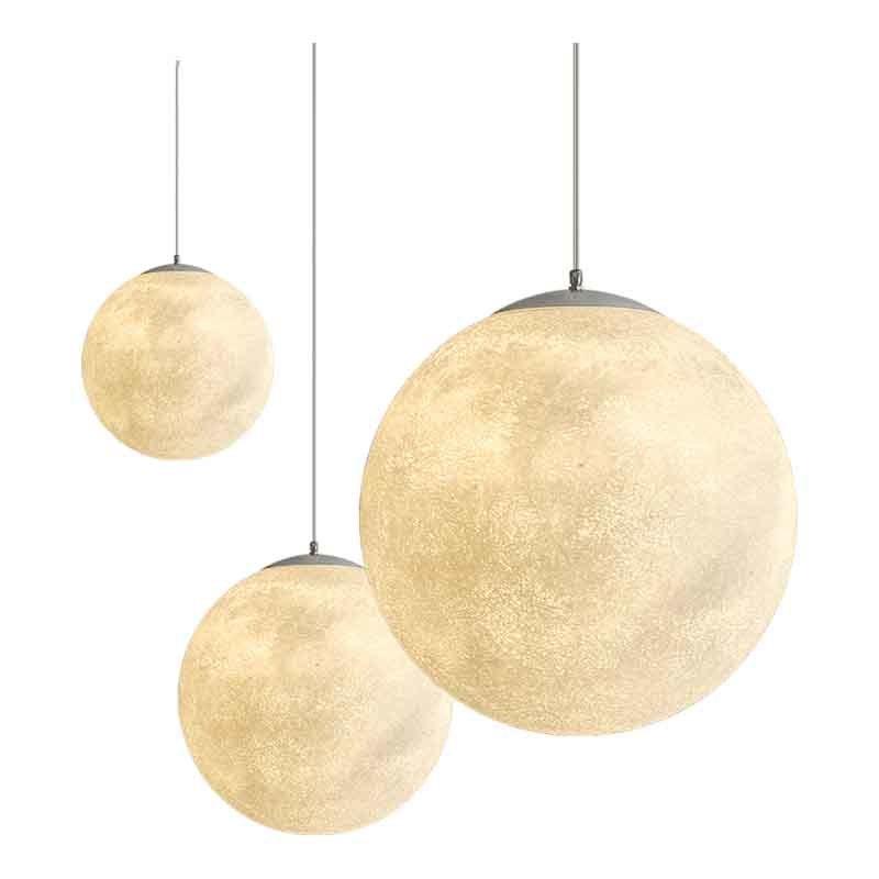 3D Print Hanglampen Nordic Creatieve Maan Lamp Bal hanglamp Restaurant Hars Lampen Nieuwigheid Sfeer Nachtlampje Lamp - 6