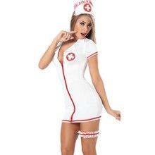 Strut Your Stuff Short Sleeves Zip Front Mini Dress Women's Sexy Halloween Costume Hot Sell Sexy Nurse Halloween Costume L1384
