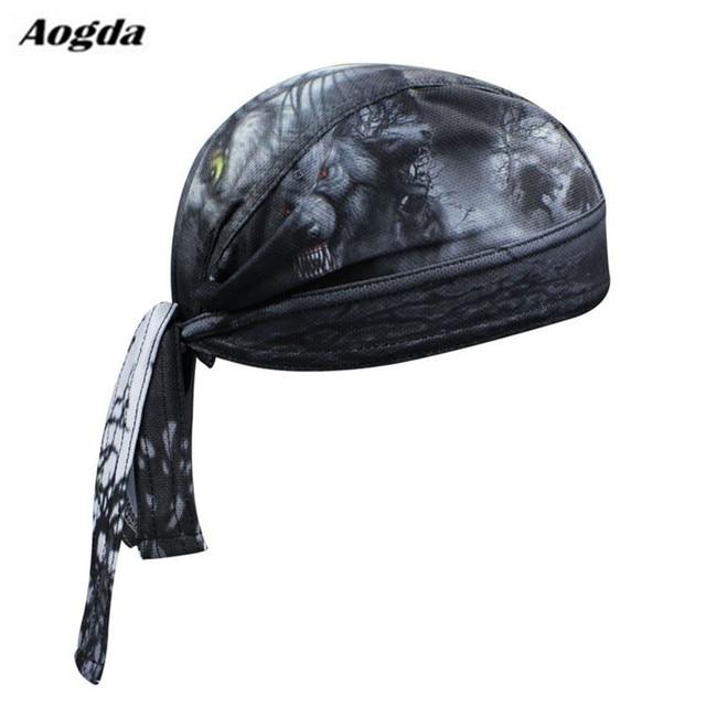 새로운 남자 자전거 사이클링 두건 해적 스카프 머리 장식 드레스 모자 자전거 머리 착용 모자 CC3538