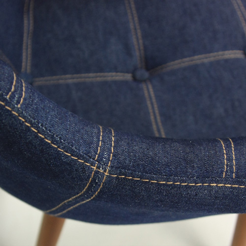 Cloth Fashion Simple Wood Chairs Reception Chairs Comfortable Desk Chair  Backrest Armrest New Casual Denim Chair On Aliexpress.com | Alibaba Group
