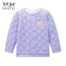 HHTU Vêtements de Printemps 2016 Enfants femelle Bébé Filles à manches longues cardigan veste manteau rose Enfants vêtements