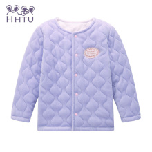 HHTU Spring Winter 2017 Children's Warm Clothing Female Baby Girls Long-sleeved Cardigan Jacket Coat Pink Kids Clothes Coat