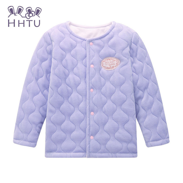 Hhtu clothing bebé femenino de primavera 2016 de los niños niñas de manga larga cardigan jacket coat pink kids clothes