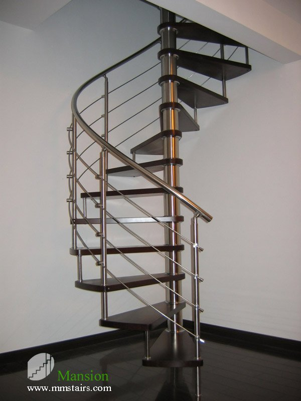 Diy Stainless Steel Spiral Stairs Solid Wood Treads On Aliexpress Alibaba Group