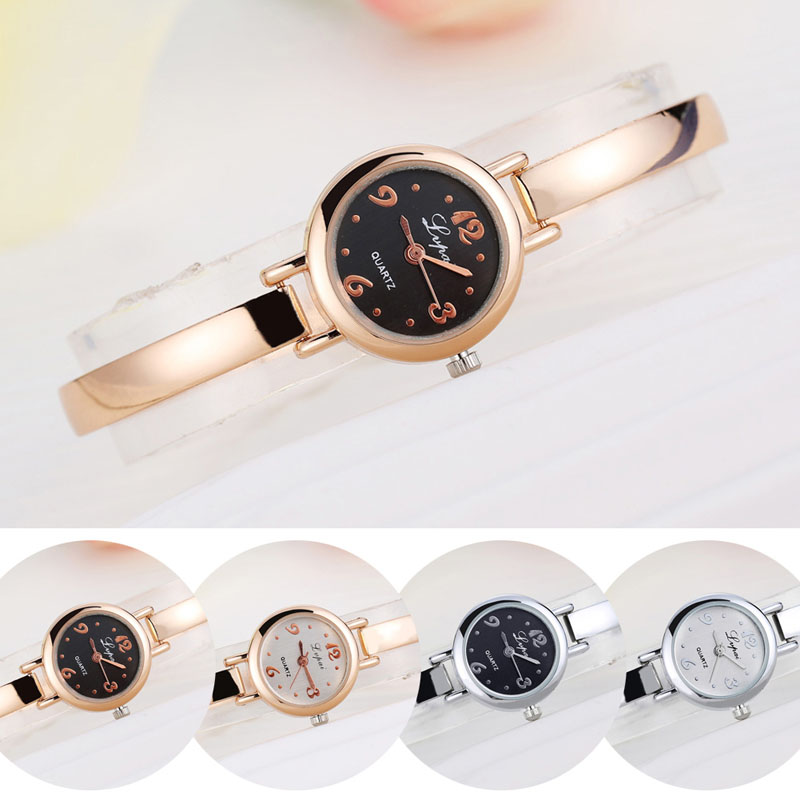 relogio feminino Women Lady Luxury Stainless Steel Dial Bracelet Dress Analog Quartz Wrist Watch dinioh lady s stainless steel round dial