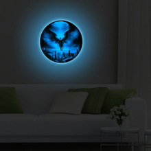 Luminous wall sticker decor 3D stickers engraving moon globe wallpaper organizer