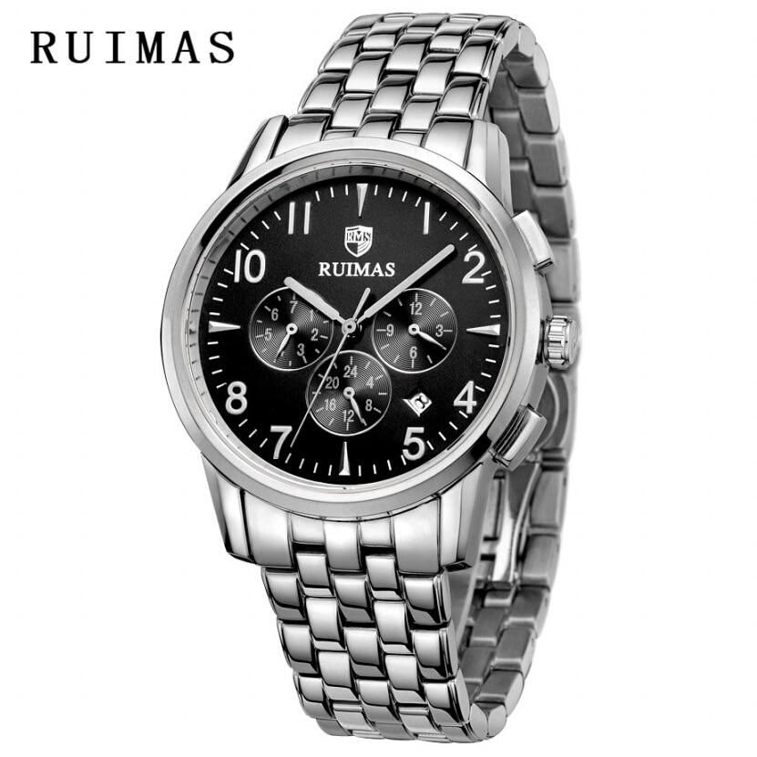 Vestido de lujo RUIMAS Reloj Rose Gold New Fashion Sport Men Relojes - Relojes para hombres