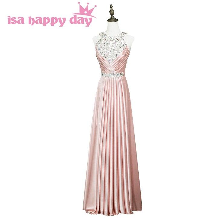 Bleu rose longue mère de la mariée femmes robe de soirée robes de grande taille 2019 nouveauté or couleur robe robes formelles H3625