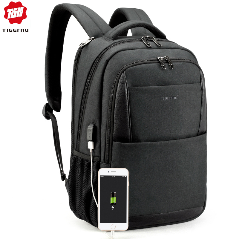 Tigernu Men Backpacks Anti Theft Usb Charging 15.6 Laptop Bag Mochilas Escolar Feminine Male Bagpack Notebook College Schoolbag