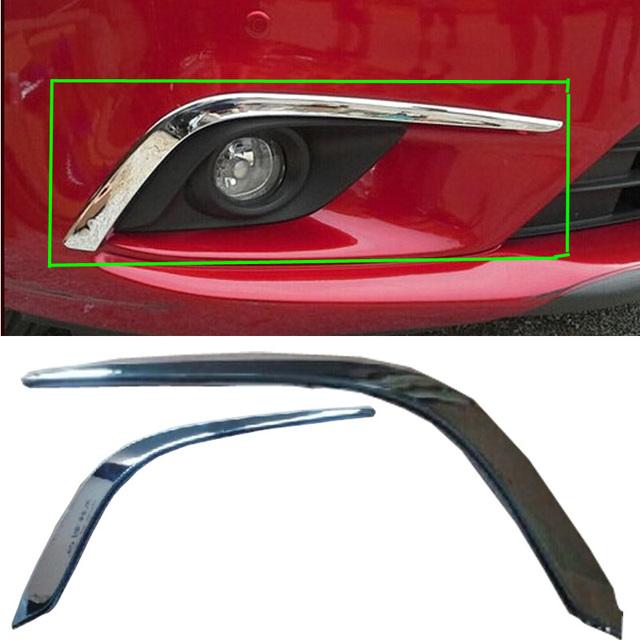 Acessórios do carro da frente para cima guarnição luz de nevoeiro frontal sobrancelha pálpebra decore caimento para Mazda 6 Atenza 2013 2014 abs 2 pcs car styling