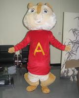 ohlees Actual real Picture Alvin and the Chipmunks Mascot Costume Adult Size Outfit Plush Costumes Fancy Dress