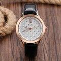 Negocio de la moda Elegante de Cristal de Cuarzo Reloj de Pulsera Mujeres Parpadean Rómbico Celosía Dial Clásico Moderno de Las Señoras de Regalo de Navidad