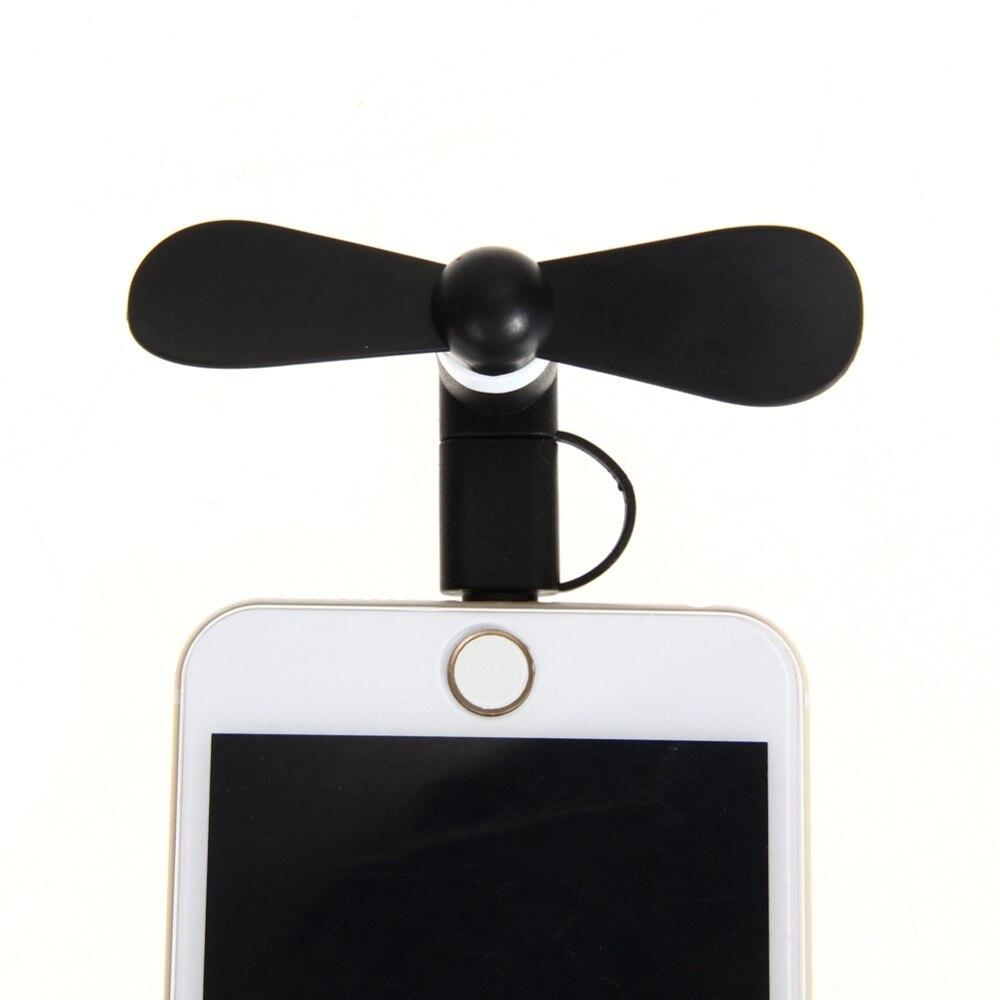 Портативный 2 в 1 сотовый телефон милый mini USB мобильного телефона вентилятор портативный ручной вентилятор для Power Bank Android OTG смартфон для <font><b>iPhone</b></font> &#8230;