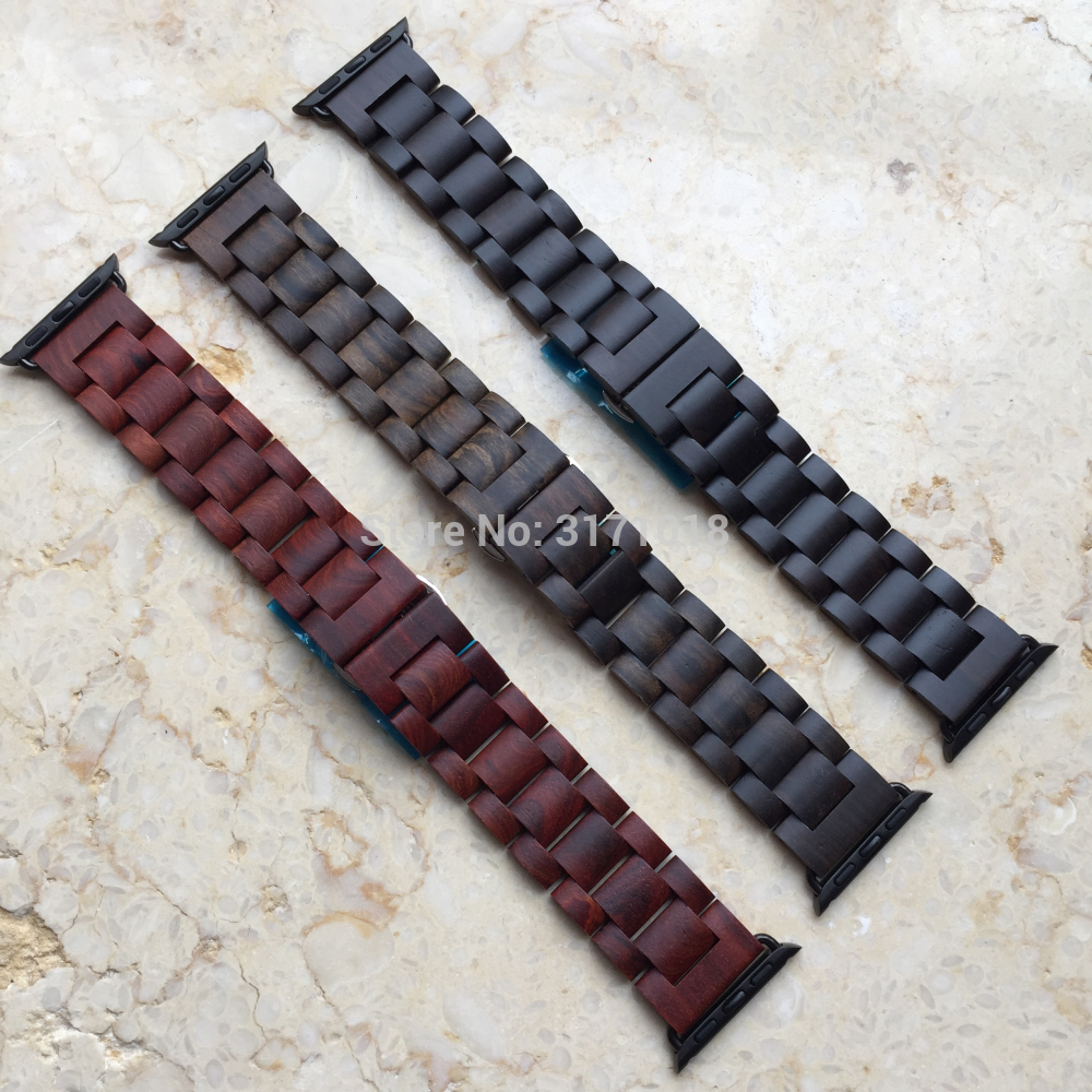 Retro Watchbands Wood Watch strap band with Adaptor For Apple Watch Band 38mm 42mm Series 1 2 3 Butterfly buckle wrist bracelet дмитрий goblin пучков игорь викентьев про а с пушкина
