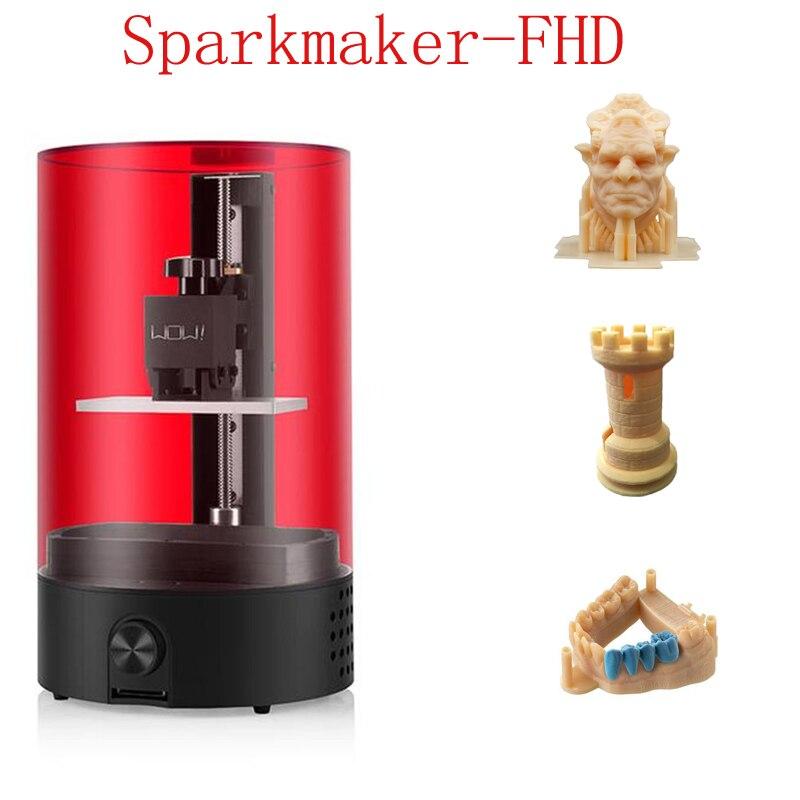 Peças de Impressora 3d Mais Novo FHD faísca Resina 3d Impressora de Alta Presicion Impressão Jewerly App Controle 25mm/hr LCD /SLA 3d Kit de Impressora
