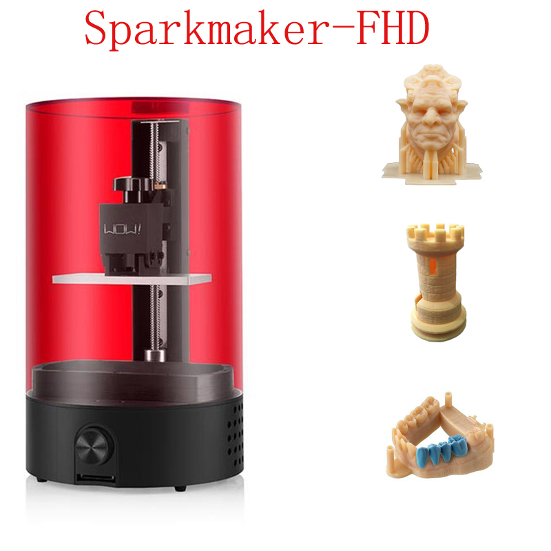 Sparkmaker Printer 3d Parts Newest FHD Resin 3d Printer High Presicion Print Jewerly App Control 25mm/hr LCD/SLA 3d Printer Kit