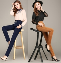 Wholesale hot style During the spring and autumn season ms corduroy leisure thin corduroy tall waist stretch leggings