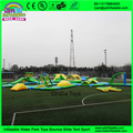 Giant inflatable water toys/ inflatable floating water park/ inflatable water slide and trampoline combo