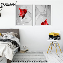 Modern Red Rose Posters And Prints Art Photo Wallpaper Flower Pictures Wall Canvas Art Wall Painting Poster Living Room Decor vilde eduard maekula piimamees