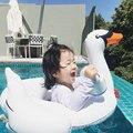 Nova Da Criança Do Bebê Crianças Brinquedo Inflável PVC White Swan Natação Anel do Flutuador Da Água