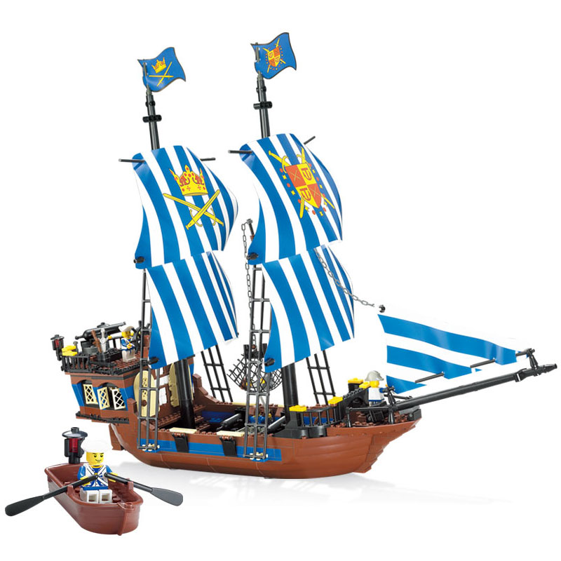 2017 Kazi Pirates Armada Flagship Blocks 608pcs Bricks Building Blocks Sets Education Toys For Children kazi building blocks k87011 608pcs pirates black pearl model building kits model toy bricks toys hobbies blocks