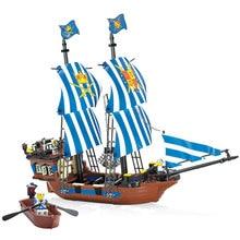 2017 Kazi Пираты Armada Флагманский Блоки 608 шт. Кирпичи Строительные Блоки Устанавливает Образования Игрушки Для Детей