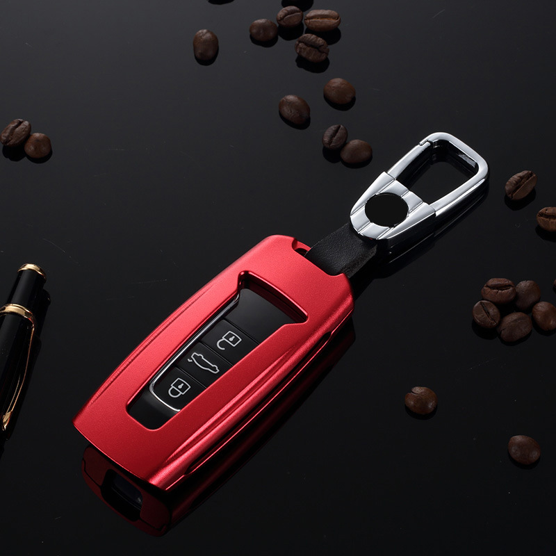 Car Aluminium Alloy Key Holder Cover Case Shell Chain For Volkswagen Touareg 2018 2019|Key Case for Car| |  - title=