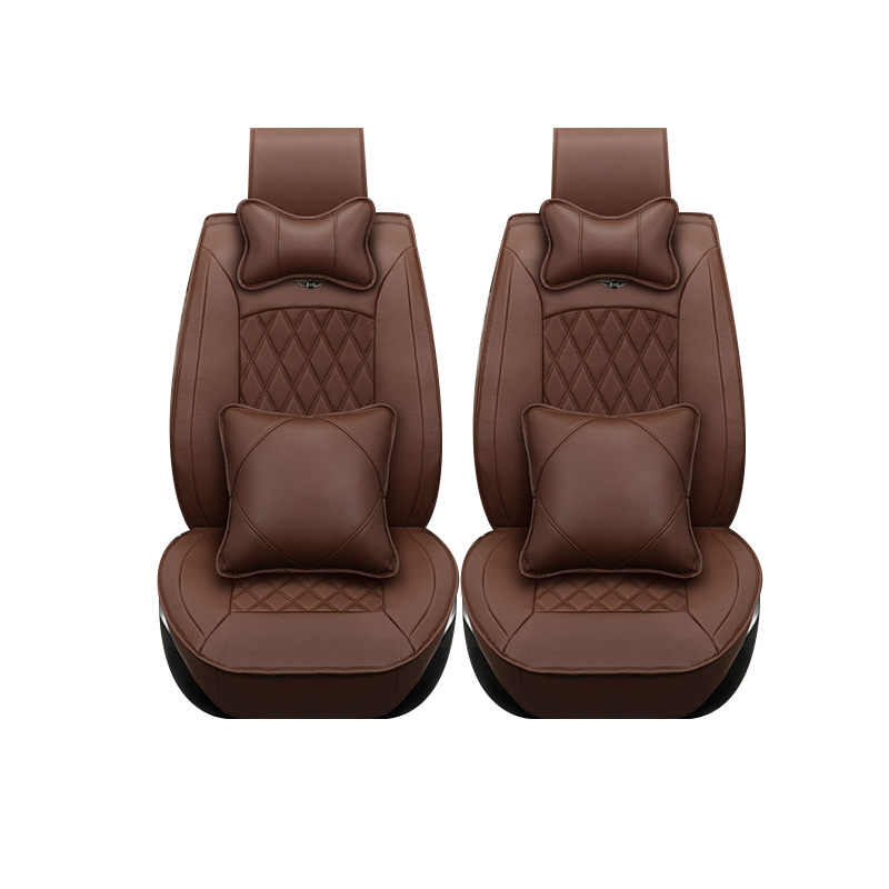 Special leather only 2 front car seat covers For Chery All Models A1/ 3/5 Tiggo Cowin Fulwin Riich E3 E5 QQ3 6 V5 Tiggo X1 auto central park