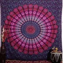 India hippie Mandala tapiz decoración del hogar de la pared cuelgan colchas Bohemio Europa y los Estados Unidos de viento grande playa chal