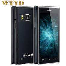 VKworld T2 ROM 8 GB + RAM 1 GB 3G Smartphone de Doble pantalla de Doble oído Altavoz Negocio Flip Teléfono Android 5.1 MTK6580 Quad A Core 1.3 GHZ
