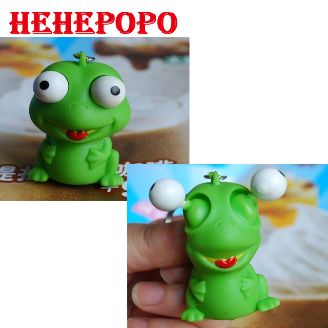 Animal bonito Pequeno Brinquedo Squeeze Pop Out Olhos Boneca Novidade Joking Descompressão de Ventilação de Alívio do Estresse Keychain Brinquedos Macios