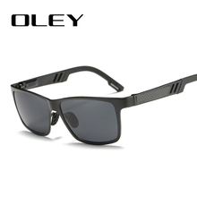 OLEY Aluminum Magnesium Sunglasses Men Brand Designer Polarized Square Sun Glasses UV400 protect Driving goggles oculos Y5459