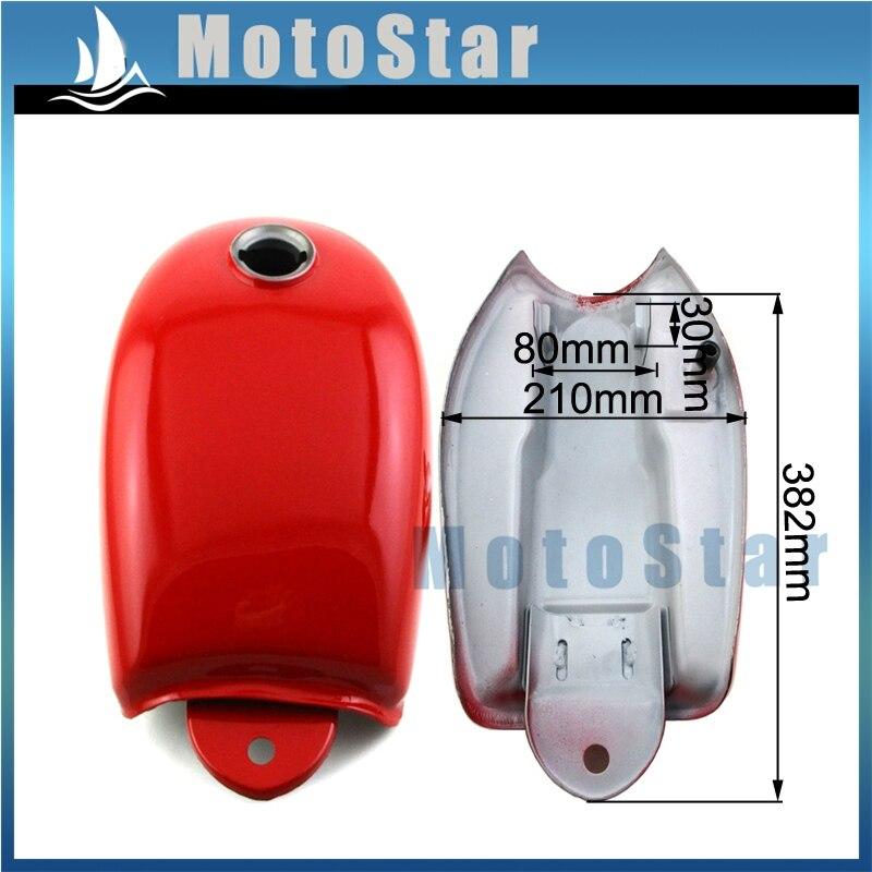 Red Strong Steel Gas Fuel Tank For Honda Monkey Bike Mini Trail Z50 Z50A Z50J Z50R