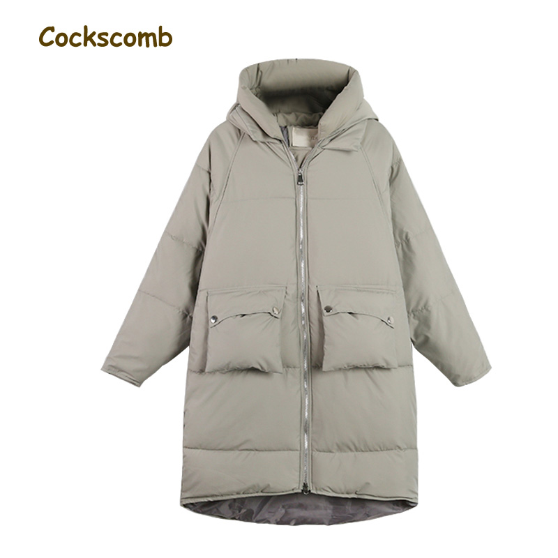 ФОТО Plus size school student cotton parka coats and jackets women thick warm winter coat female cocoon shape outerwear