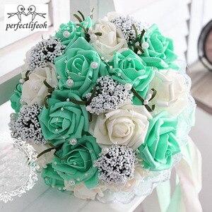 Image 5 - Ручной Букет невесты perfectlifeoh, свадебный букет ручной работы, имитация цветов, шарики, свадебные цветы для фотографии