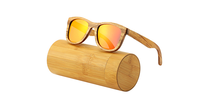 AN SWALLOW New 100% Real Zebra Wood Sunglasses Polarized Handmade Bamboo Mens Sunglass Sun glasses Men Gafas Oculos De Sol Mader 13