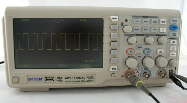 "ATTEN ADS1062CAL цифровой осциллограф 60 МГц 7 ""ЖК-дисплей 1G Sa/s"