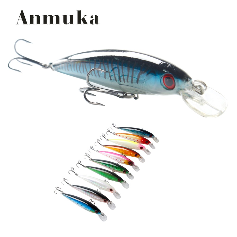 Aumuka Fishing Lures With Hooks Deep Swim Hard Bait 10CM 13G Artificial Baits Minnow Fishing Wobbler Diving Depth 1.2-2m 1pcs 16 5cm 29g big minnow fishing lures deep sea bass lure artificial wobbler fish swim bait diving 3d eyes