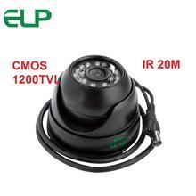 20m IR distance CMOS 1200TVL 3.6/6mm lens optional Outdoor Waterproof mini Dome Camera ELP-412VR