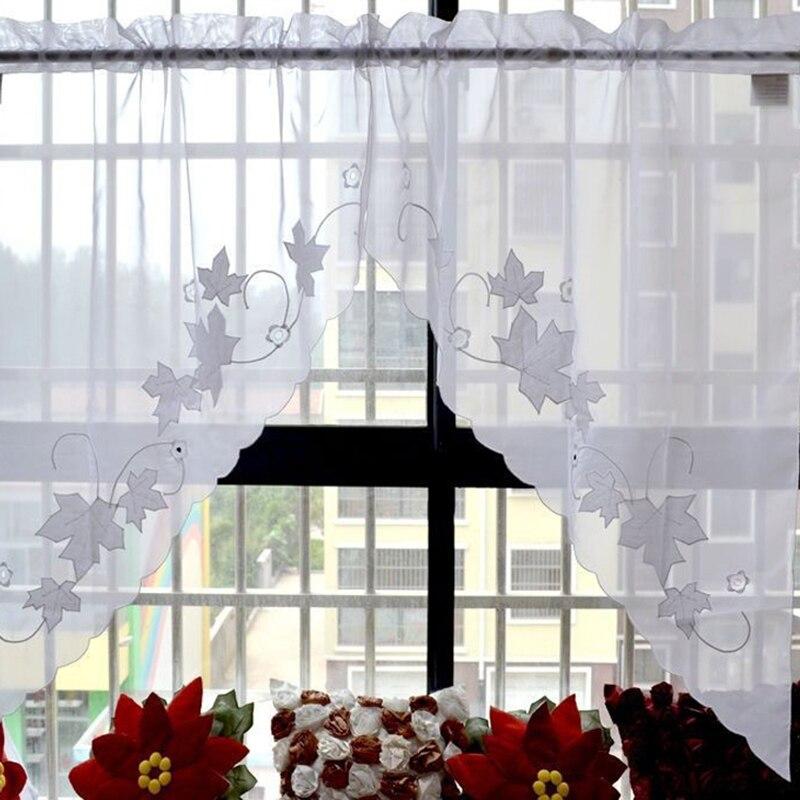 Piccola tenda caffè per la cucina mezza finestra mantovana tenda ...