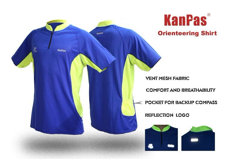 2014 New Professional Orienteering Shirt/Short Sleeve/Sports Shirt for Gym, Cycling, Running/Ultra Breathe Material ROS-11