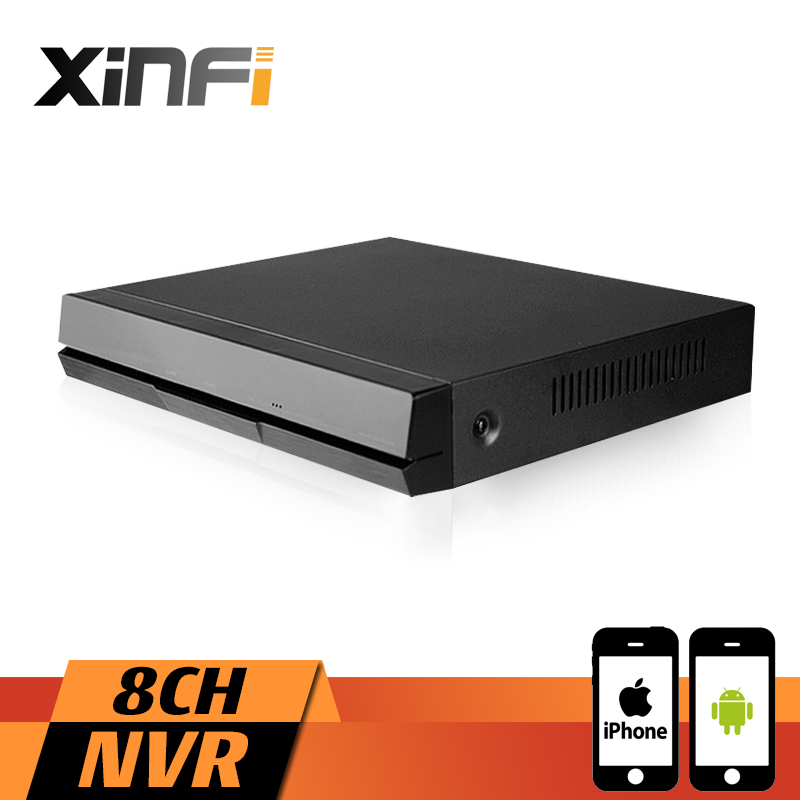 XINFI 8CH HDMI NVR 8 Channel Security CCTV Recorder 1080P ONVIF 2.0 For IP Camera System 1080P Recorder xinfi 8ch hd cctv system with 8ch hdmi 1080p nvr network video recorder 8pcs 1080p hd 2 0mp security ip camera system cctv kit