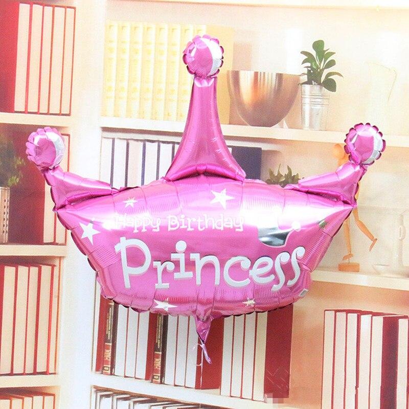 nuevo estilo anagraml pulgadas duotono corona de la princesa feliz cumpleaos globo decorar fiesta de cumpleaos regalo de cumpleaos juguetes de los