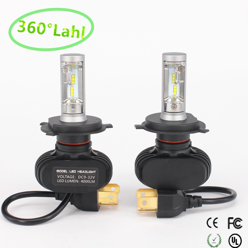 S1 CSP Led Headlights H1 H3 H4 H7 H11 H13 9005 9006 LED Car Headlight Bulb