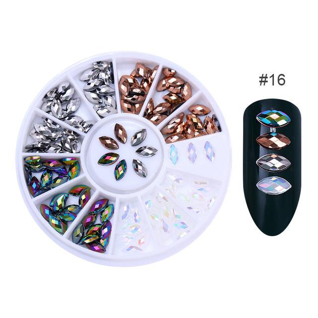 3D Nail Art Decoration in Wheel Geometry