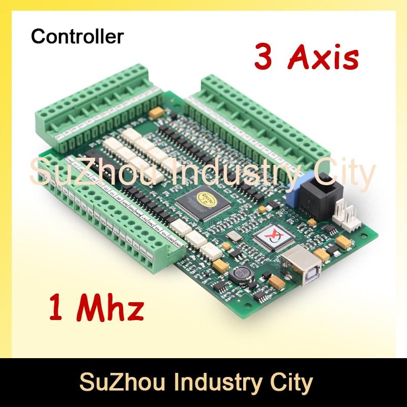 3 Axis MACH3 USB CNC Motion Control Card  frequency 1MHZ CNC Controller Driver Board  used for stepper motor and servo motor. Числовое программное управление