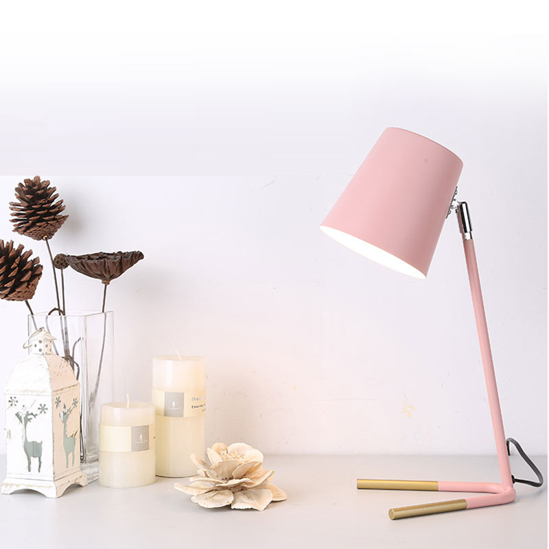 Nordic Modern Simple Table Lamp Creative Personality Iron Desk Lamp Office Reading led Lamp Bedside Study Color led Table Lamp nordic creative table lamp for bedroom bedside simple personality desk reading decorative led table lamp